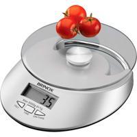 Balança Digital De Cozinha Brinox 2923/101 5Kg Com Relógio Branco