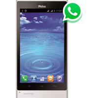 "Smartphone Philco Phone 500 - 3G - 4Gb - Câmera 8Mp - Dual Chip - Tela 5"" - Android 4.0 - Branco"