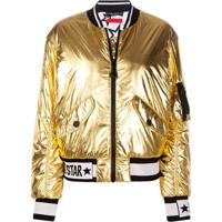 Dolce & Gabbana Jaqueta Bomber Millennials Star - Dourado