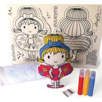 Boneca De Pano Bailarina Alegria Sem Bateria Colorido