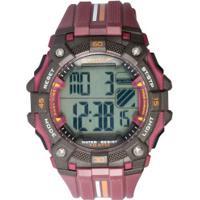 Relógio Digital Speedo + Caixa De Som - Masculino - Vinho