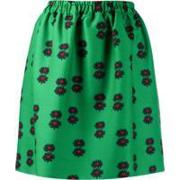 La Doublej Saia Com Estampa Floral - Verde