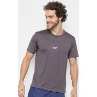 Camiseta Speedo Basic Stretch Masculina - Masculino-Cinza