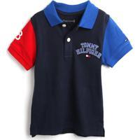 Camiseta Tommy Hilfiger Kids Menino Lisa Azul-Marinho