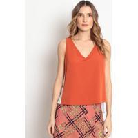 Blusa Bicolor Com Botões - Laranja & Brancadonna Mila