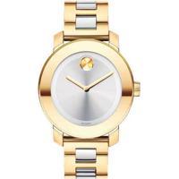 Relógio Movado Feminino Aço Dourado E Prateado - 3600129