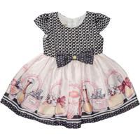 Vestido Infantil Barrado Perfumes - Anjos Baby Chic