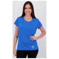 Camisa Errea Creponada Feminina Azul