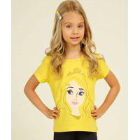 Blusa Infantil Estampa Princesa Aurora Disney Tam 4 A 10