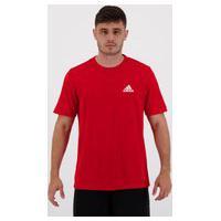 Camiseta Adidas D2M Plain Vermelha