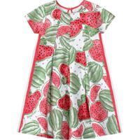 Vestido Lilica Ripilica Infantil 101102900001 Vermelho