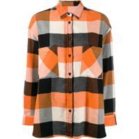 Woolrich Camisa Xadrez - Laranja