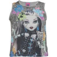 Blusa Monster High Malwee Estampa Cinza