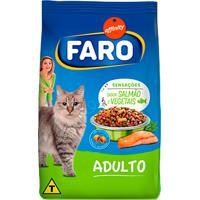 Ração Para Gatos Faro Adultos Sabor Salmão E Vegetais 1Kg