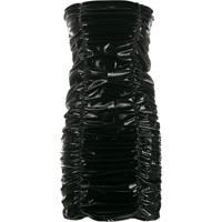 Philipp Plein Vestido Com Efeito Enrugado - Preto