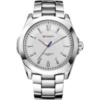 Relógio Curren Analógico 8109 Branco