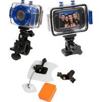 Câmera De Açáo Hd Dvr785 Vivitar + Kit P/ Surf Azul - Tricae