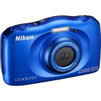 Câmera Nikon Coolpix W100 13,2 Mp Zoom 3X Azul