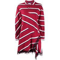Koché Camisa Polo Oversized Listrada - Vermelho