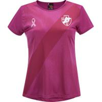 Camiseta Do Vasco Da Gama Outubro Rosa 19 - Feminina - Rosa
