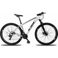 Bicicleta Aro 29 Ksw Xlt 24V Câmbios Shimano Tx-800 Freio A Disco Hidráulico Com Suspensão - Unissex