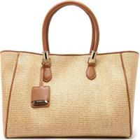 Shopping Bag Ráfia Neutral   Schutz