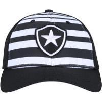 Boné Aba Curva Do Botafogo New Era 940 - Strapback - Adulto - Preto Branco 78df65c809a