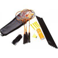 Kit Badminton Vollo 4 Raquetes + 3 Petecas + Rede + Bolsa