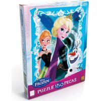 Jogo De Quebra-Cabeça - 150 Peças - Disney Frozen - Grow - Feminino-Incolor