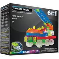 Blocos De Montar Laser Pegs Carro De Bombeiro 6 Em 1 Zippydo Colorido