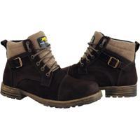 Bota Coturno Bell Boots Couro Macia Casual Conforto Dia A Dia Marrom - Kanui