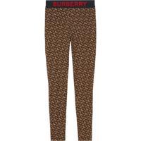Burberry Legging Com Estampa Monogramada - Marrom