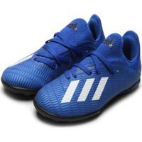Chuteira Adidas Performance Menino X 19 3 Tf Jr Azul