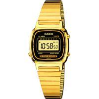 Relógio Digital Casio Feminino - La670Wga1Dfu Dourado