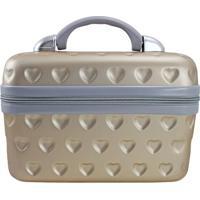 Frasqueira Love- Dourada & Cinza- 23X17X29Cm- Jajacki Design