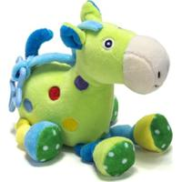 Chocalho De Pelucia Unik Toys Cavalo Verde