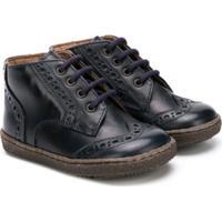 Pépé Kids Brogue Detail Boots - Azul