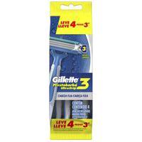 Gillette Prestobarba Ultragrip 3 Barbeador Descartável Com 4 Unidades 4 Unidades