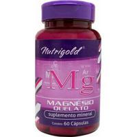 Magnésio Quelato - 60 Cápsulas - Nutri Gold
