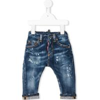 Dsquared2 Kids Calça Jeans Skinny Destroyed - Azul