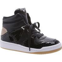 Tênis Sneaker Texturizado - Preto Brancoschutz