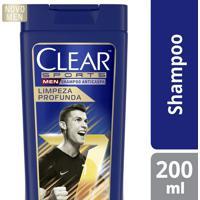 Shampoo Anticaspa Clear Men Sports Limpeza Profunda 200Ml
