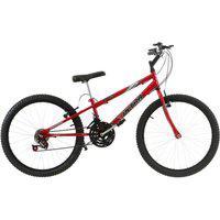 Bicicleta Rebaixada Ultra Bikes Aro 24 18 Marchas Vermelho Ferrari