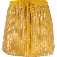 Twin-Set All-Over Sequin Mini Skirt - Amarelo