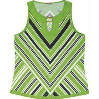 Blusa Com Aviamento Verde