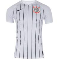 Camisa Do Corinthians I 2019 Nike - Torcedor - Branco/Preto
