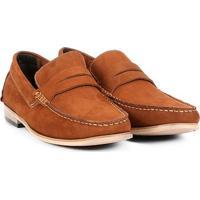 Mocassim Couro Shoestock Nobuck Gravata Masculino - Masculino