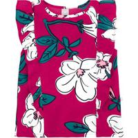 Blusa Floral Com Babado- Pink & Brancahering
