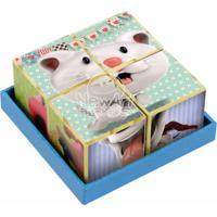 Coleção Cubos Gatinho, Cachorrinho E Porquinho Newart Toys Colorido