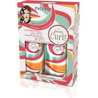Kit Inoar Divine Curls Shampoo + Condicionador 250 Ml - Unissex-Incolor